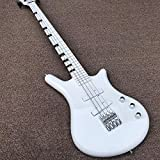 Lztly Electric Guitar 4 String Bass Electric Guitar White Paint Electric Bass Guitar Acoustic Steel String Guitars Beginner Guitars (Color : Bass, Size : 43 inches)