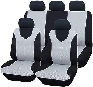Full Set of Touring Seat Covers Navy Blue for Suzuki Swift, CELERIO, BALENO, JIMNY, Vitara, SX4 (Color : Gray)