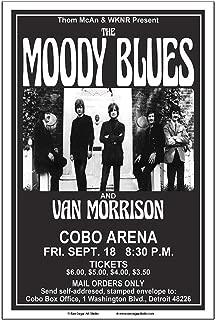 Raw Sugar Art Studio Moody Blues/Van Morrison 1970 Detroit Concert Poster