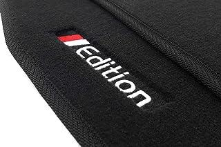 kh Teile Fußmatten passend für A4 (B6/B7/8E) Premium Qualität Velours Automatten schwarz 2 teilig Bestickt mit Edition