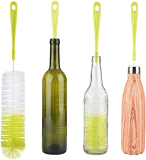ALINK 16 Long Bottle Brush Cleaner for Washing Wine, Beer, Swell, Decanter, Kombucha, Thermos, Glass Jugs and Long Narrow ...