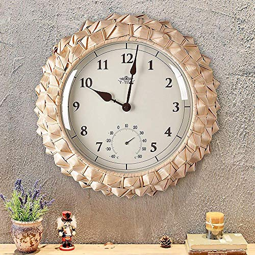 Vintage Retro Clocks 3D Roman Numerals Clock Skeleton Frameless Copper Color Metal Wall Clock for Living Roon Decorative Best Gift 16Inch 19Inch