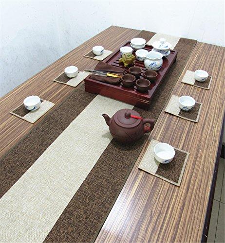 Sucastle® 35x420cm tissu Chemin de Table Cuisine Imperméable Décoration en Aspect naturel