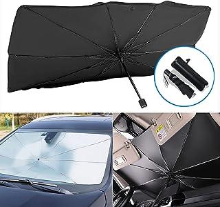 SUNACCL Car Windshield Sun Shade Umbrella, Foldable Car Sun Umbrella for Windshield Sun Protection Umbrella Front Sunscree...