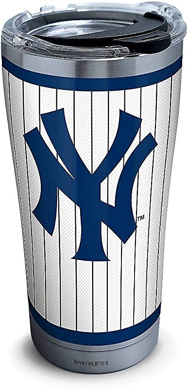 Tervis 20 Oz Stainless Steel New York Yankees Tumbler One Size White Blue