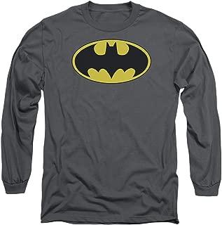 Batman DC Comics Classic Bat Logo Adult Long Sleeve T-Shirt Tee