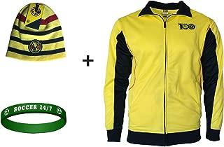 Club America Jacket Centenario Soccer Futbol + Beanie + Silicone Wristband Set 3 pcs Amer 001
