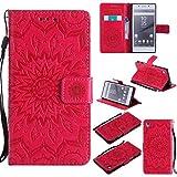 KKEIKO Hülle für Sony Xperia Z5, PU Leder Brieftasche