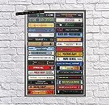 Classic Hip Hop Albums Cassette Hip Hop Music Fan Wall Art Poster (paper no frame, 11x17)