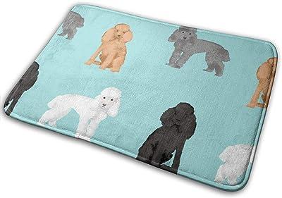 """Toy Poodle Mixed Simple Dog Breed Light Blue_24998 Doormat Entrance Mat Floor Mat Rug Indoor/Outdoor/Front Door/Bathroom Mats Rubber Non Slip 23.6"""" X 15.8"""""""