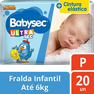 Fralda Infantil, Babysec, Azul, P
