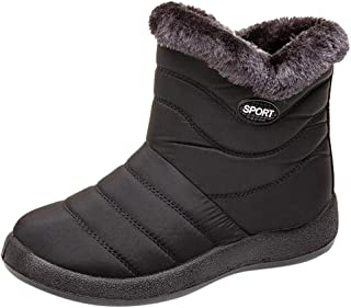 ? HebeTop ? Warm Snow Boots, Winter Warm Ankle Boots, Fur Lining Boots,Waterproof Thickening Winter Shoes for Women and Men