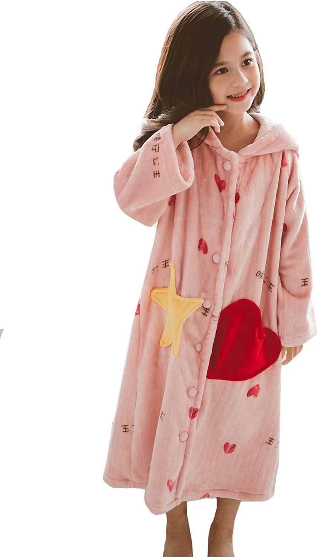 Japan's largest assortment Toddler Girls Oklahoma City Mall Zipper Front Bathrobes Plush Fleece Kids Long Robe