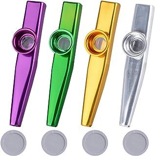 comprar comparacion 4Pcs Kazoo Mirlitón de Metal 4 Colores