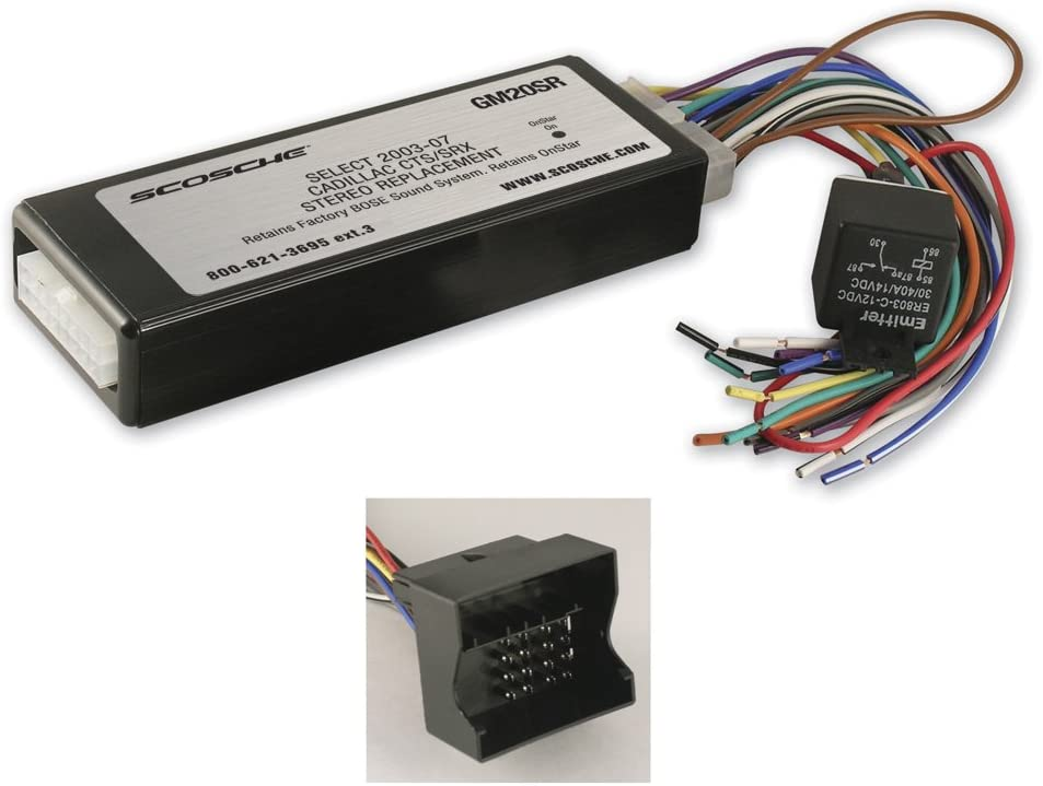 NEW before selling Scosche GM20SR Stereo Replacement Cadill Free shipping anywhere in the nation for 2003-2006 Interface