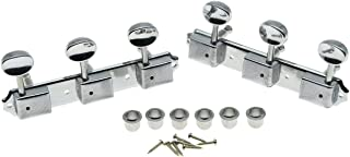 Dopro Chrome 3 per side 3+3 on a Plate Vintage Guitar Tuning Keys Guitar Tuner for Epiphone LP JR