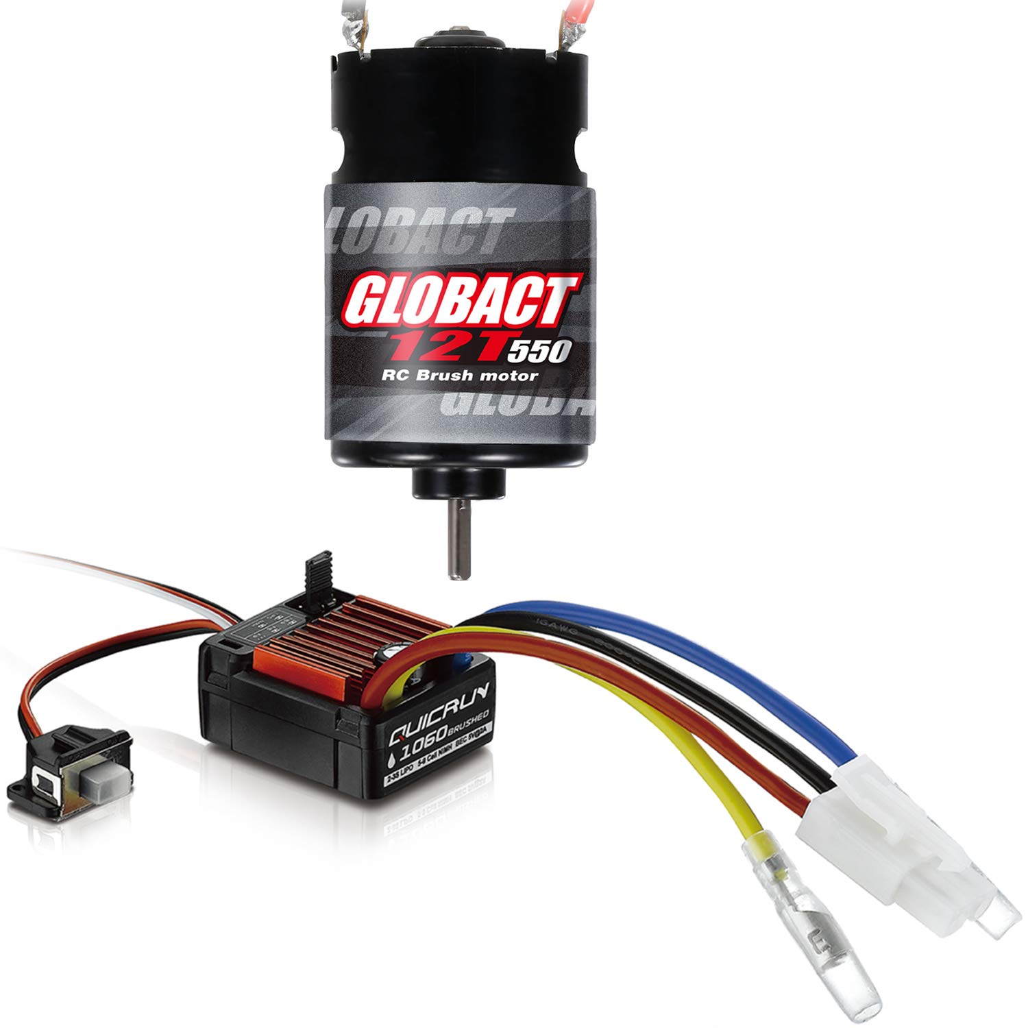 Hobbywing QuicRun WP 1060 60A Brushed ESC and Globact 550 12
