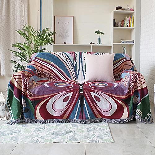 haoyunlai Camping Beach Blanket Decor Sand blanket single double sofa towel line blanket cover leisure carpet-butterfly_130 * 160cm