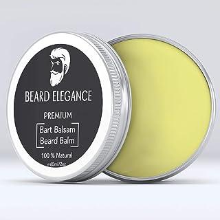 BEARD ELEGANCE Beard Balm - Bartpflege Bartbalsam & Bartwachs – Stoppt den Juckreiz, bändigt den Bart & macht ihn geschmeidig - bekannt als Bart Balsam, Bartwichse, Bartpomade, Bartbalm 100% Natürlich