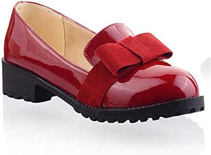 f843a4c4c361 Baqijian New Round Toe Slip-On Women Loafers Fashion Bow Patent Leather  Women Flat Shoes