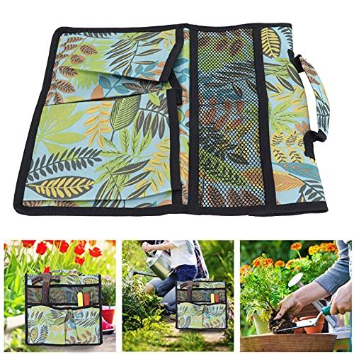 Haowecib Cubo de jardín, diseño de Mango, Bolso de Mano para Herramientas de jardín Que cuelga con Hebilla de Nailon para jardineros para arrodillarse, Carrito de Banco para Mujeres