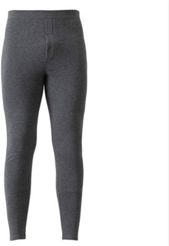 Thermal Underwear for Men Winter Long Thick Fleece Leggings wear in Cold Weather,Dark Grey,XXL(54-64kg)