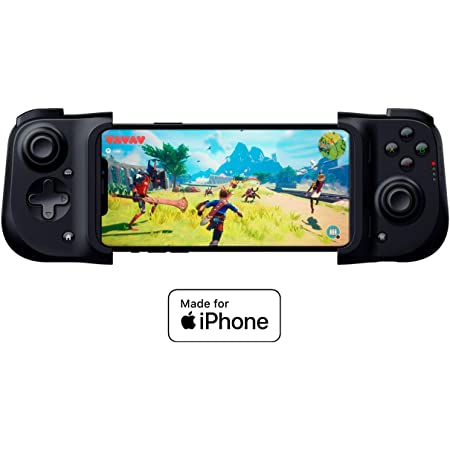 Razer Kishi Mobile Game Controller / Gamepad for iPhone iOS: Works with most iPhones – iPhone X, 11, 12 - Apple Arcade, Amazon Luna - Lightning Port Passthrough - Mobile Grip - MFi Certified