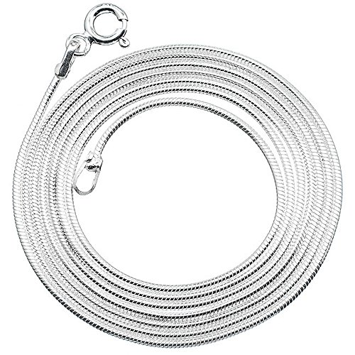 925 Sterling Silver Solid Chain, 925 Sterling Silber Kette 24