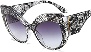 Women Oversized Sunglasses Cat Eye Vintage Retro Bold Designer Statement Shades