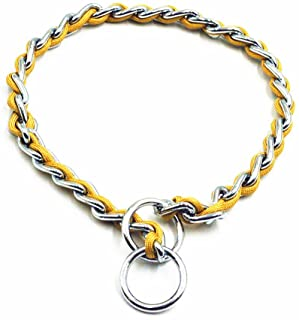 JWPC Stainless Steel P Chock Metal Chain Training Dog Pet Collars Necklace Walking Training Pet Supplies for Small Medium Large Dogs