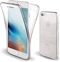 Moozy 360 Degree Case for iPhone SE, iPhone 5S - Full Body Front and Back Slim Clear Transparent TPU Silicone Gel Cover