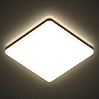 AVANLO - Plafoniera LED 24 W, 4000 K, lampada da soffitto a LED per soggiorno, diametro 28 cm, 2400 lm, per bagno, lampada da soffitto per ufficio, sottile
