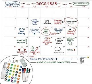 "$24 » Large Dry Erase Wall Calendar - 36""x48"" Premium Giant Oversized Undated Erasable Deadline Task Calendar for 2021 - Jumbo M..."