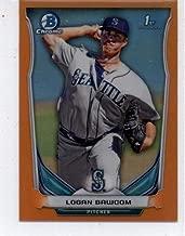 10 2014 Bowman Chrome Mini LOGAN BAWCOM Rookie Card LOT #220 Mariners