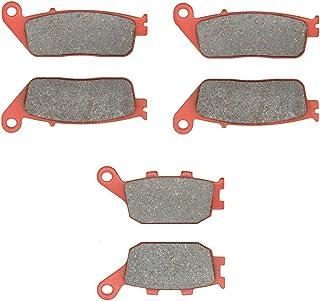 MEXITAL cerámica Pastillas de freno Delanteras + Traseras para CB 600 F Hornet (FW/FX/FY/F1-F6/F21/F22/F2Y) (98-06)/CBF 600 N/S (04-09) (Non ABS) SA NA (ABS) (04-06)/CBF 1000 (Non ABS) (06-15)