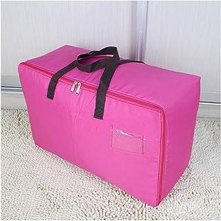 Aqiong CGS2 Sac de rangement pliable avec poignées zippées, sac de rangement pour vêtements, sac de rangement, Femme., Rou...