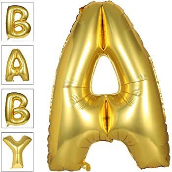 Lovne 40 Inch Jumbo Gold Alphabet A Balloon Giant Prom Balloons Helium Foil Mylar Huge Letter Balloons A to Z for Birthday Party Decorations Wedding Anniversary