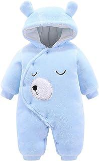 Combinaisons de Neige Panda Bebe Gar/çon Manteau Polaire Bebe Fille Doudoune avec Capuche Hiver Chaud Vetements Bebe 0-12 Mois Bonjouree