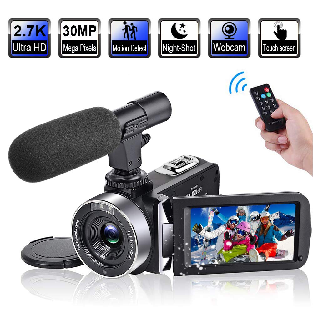 Camcorder Microphone Vlogging Rotatable Time Lapse