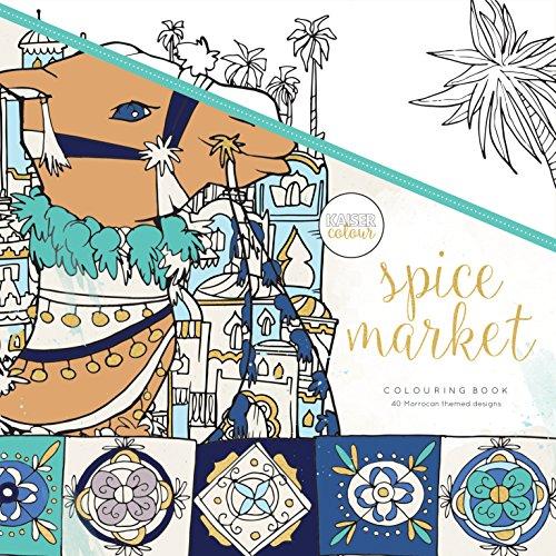 Kaisercraft Malbuch Spice Market, Paper, Multicolour, 25 x 25 x 0.6 cm