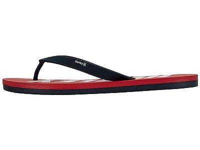 Hurley One Only Fastlane Sandals (University Red/White) Men