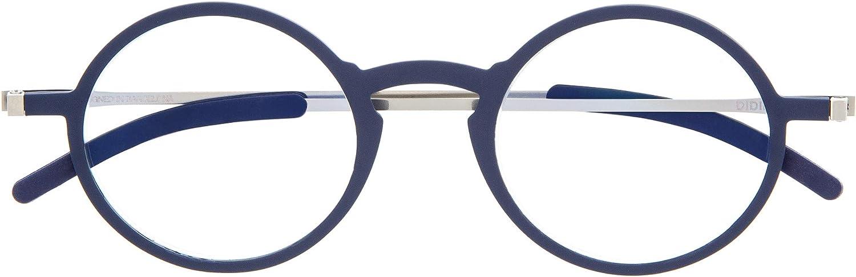 DIDINSKY Gafas de Lectura Graduadas Ultra Delgadas para Hombre y Mujer. Gafas de Presbicia muy Ligeras con Lentes con Protección Luz Azul. 6 Colores y 5 Graduaciones - MACBA ROUND
