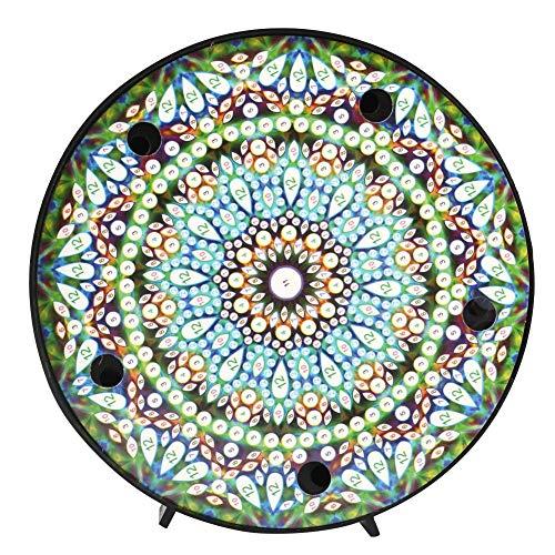 Kit de pintura de diamante Mandala con luces de noche LED Lámpara de mesita de noche de pintura de diamante DIY para decoración de vacaciones(ZXD007)