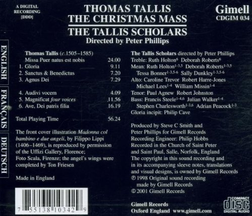 The Tallis Christmas Mass (The Tallis Scholars) (Gimell)