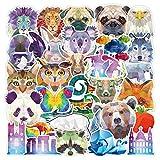 DSSK 35 Unids Animal Cool Series Set Sticker Animal Diamond Maleta Equipaje Skateboard Notebook Sticker
