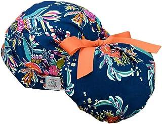 surgical hat star tie back ribbon-comic Adjustable Ponytail women\u2019s scrub cap space future hair cover nursing cartoon-superhero-baby