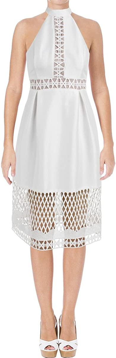 Ivanka Trump Women's Halter Over item handling ☆ Directly managed store White Dress Midi