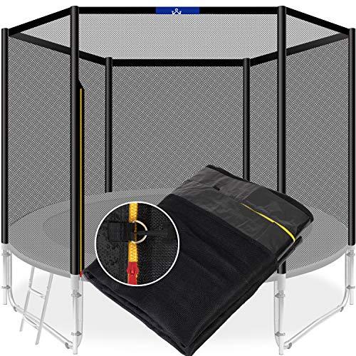 KESSER® Trampolin Ersatznetz Sicherheitsnetz UV-beständig Trampolinnetz Trampolinschutz | einfache Montage | Eingangstür mit Reißverschluss | aus hochwertigen Materialien, 305cm (8 Stangen)