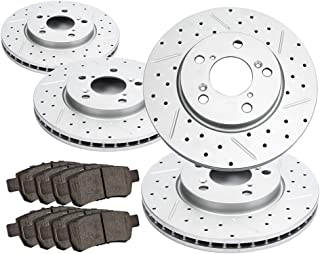 Beyond Your Thoughts Front&Rear Brake Kits Replacement Compatible Fit for 2005 2006 2007 2008 2009 2010 Honda Odyssey 4 Dr...