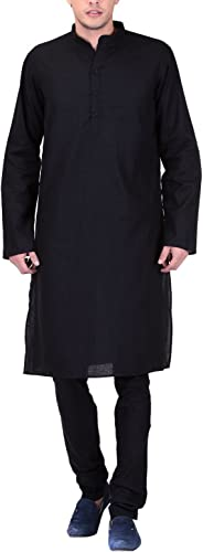 Royal Tag 7 Hommes's Cotton Kurta Pyjama Set 38 noir